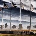 American Flag Still Standing by Luther   Fine Art