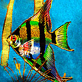 Merton Allen - Angel Fish - Watercolor...