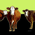 Ann Powell - animals - cows - Pop Art...