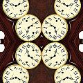 Antique Clock Abstract . Vertical by Renee Trenholm