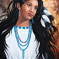 ILONA ANITA TIGGES - GOETZE  ART and Photography  - Apache maiden dressed in...