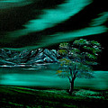 Cynthia Adams - Aurora Borealis in Oils.