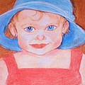 Christy Brammer - Baby in Blue Hat