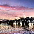 Balboa Pier Sunset Print by Kelley King
