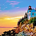 Nadine and Bob Johnston - Bass Harbor Light Acadia...
