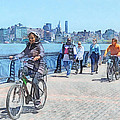 Susan Savad - Hoboken NJ - Bicycling...