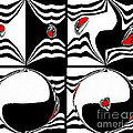 Drinka Mercep - Black White Red Op Art...