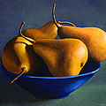 Frank Wilson - Blue Bowl With Four Pears