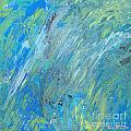 Ania M Milo - Blue Green Abstract