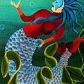 Deena Athans - Blue Haired Mermaid