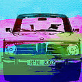 Bmw 2002 Front Watercolor 1 by Naxart Studio