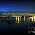Boating - The Marina At Night by Paul Ward