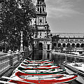 Mary Machare - Boats by the Plaza de...