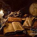 Mary Tomaino - Books Candles and Globe