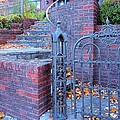 Janette Boyd - Brick Wall with Wrought...