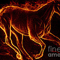 M and L Creations - Broncos on fire