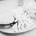 Burger Crinkle Cut Fries And Salad In A Cheap Diner In North America by Joe Fox