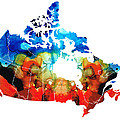 Sharon Cummings - Canada - Canadian Map by...