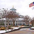 Carousel Building In The Snow by Tom and Pat Cory