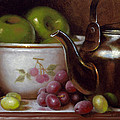 China Bowl And Teapot by Timothy Jones