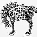 Jani Freimann - Chinese Horse - Zentangle