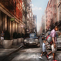 Mike Savad - City - NY - Walking down...