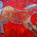 Carol Suzanne Niebuhr - Color Horse Red Running...