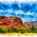 Courthouse Butte Sedona Arizona by Amy Cicconi