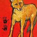 Carol Suzanne Niebuhr - Coyote and Hand Prints