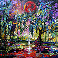 Ginette Fine Art LLC Ginette Callaway - Crimson Moon over the...