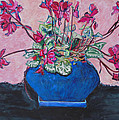 Esther Newman-Cohen - Cyclamen in a Blue...