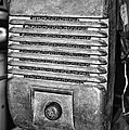 Drive In Movie Speaker In Black And White by Paul Ward