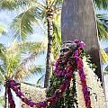 Duke Kahanamoku Covered In Leis by Brandon Tabiolo