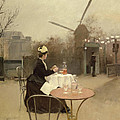 Eating Al Fresco by Ramon Casas i Carbo