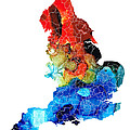 Sharon Cummings - England - Map of England...