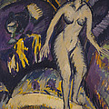 Female Nude With Hot Tub by Ernst Ludwig Kirchner