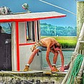 Patricia Greer - Fisherman Working on His...