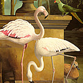 Flamingos by Lizzie Riches
