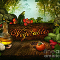 Food Design - Fresh Vegetables In Celery Forest by Mythja  Photography