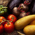 Food - Vegetables - Peppers Tomatoes Squash And Some Turnips by Mike Savad