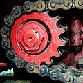 Gear Wheel And Chain Of Old Locomotive by Matthias Hauser