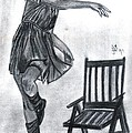 Bobby Dar - Girl and Wooden CHair