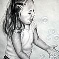 Jane Steelman - Girl Blowing Bubbles II