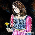 Monica Withers - Girl With Flower