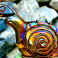 Karon Melillo DeVega - Glass Snail Garden Art