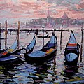 R W Goetting - Gondolas in twilight