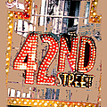 Iconic 42nd Street-nyc by Linda  Parker