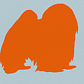 Japanese Chin Orange by Naxart Studio