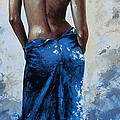 Emerico Imre Toth - Lady in red 27RE blue...