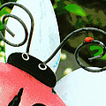 Heidi Manly - Ladybug On Metal Antenna